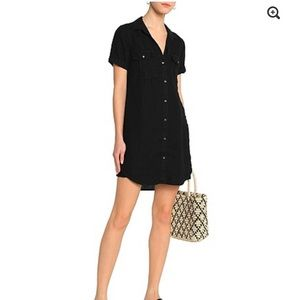 James Perse Linen shirtdress black Size 0 NWT
